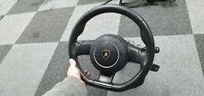 Lamborghini Gallardo Steering Wheel Lp560 Black Leather White Stitch