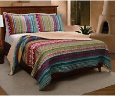 Southwest Bedding King Size Quilt Set 3 Piece Bedspread Native American Patterns