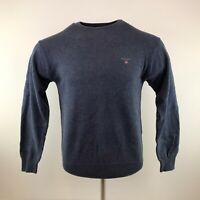 Mens Gant Crew Neck Sweatshirt New Tags Attached Blue Small Adult