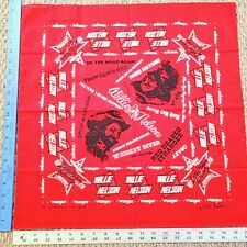 Vintage 1977 Willie Nelson Country Music Concert Bandana Handkerchief Set