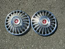 Lot of 2 factory 1967 Ford Mustang 14 inch hubcaps wheel covers