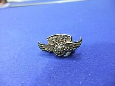 vtg badge silver wings winged badge aviation comic premium children club 1930s ?
