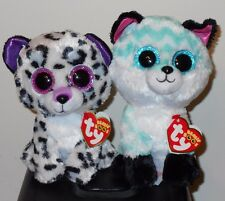 """Ty Beanie Boos - PIPER (Fox) & VIOLET (Leopard) 6"""" Claires Exclusive~ 2017 NEW"""