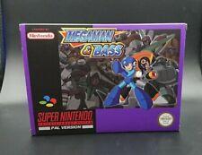 Megaman & Bass Super Nintendo SNES Video Game PAL Version Boxed