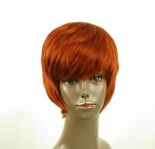 perruque afro femme 100% cheveux naturel courte cuivré intense ref LAET 01/130