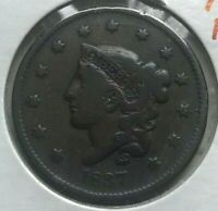 1837 Coronet Head Large Cent