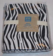 NEW Pottery Barn Teen Blac & White Zebra Sheet Set XL Twin Extra Long Ships FREE
