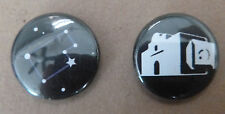 ALAMO AND SAN ANTONIO 2 PROMO BUTTONS  MODERN DAY FILM COMMISSION - BRAND NEW