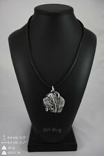 Neapolitan Mastiff, silver covered necklace, high qauality Art Dog