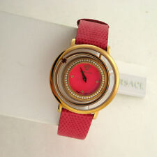 Versace Venus VFH150014  Pink Dial Ladies Leather Stainless Steel Swiss Watch