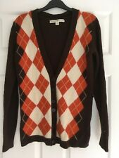 WOMENS, TOMMY HILFIGER CARDIGAN, SIZE M, WOOL/ANGORA BLEND, BROWN/ORANGE #1050