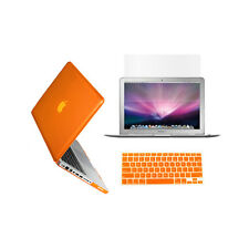 "3 in 1 Crystal  ORANGE Case for Macbook PRO 13"" + Keyboard Cover +  LCD Screen"
