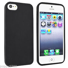 New Slim Soft Skin Silicone Gel Rubber Case Protective Cover iPhone 5 & 5S Black