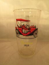 "Old Timers Autos glass by Hazel Atlas Stutz 1914, Hudson 1910 Tumbler 5 1/8"""