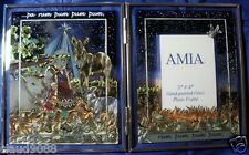 """AMIA GLASS """"LITTLE DRUMMER BOY """" HAND PAINTED TABLE SCREEN & PHOTO FRAME 8086"""