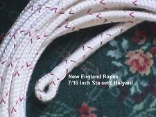 "7/16"" x 120 ft Sta-set X Halyard, White - Sta-setX by New England Ropes"