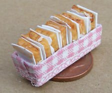 1:12 Scale 7 Brownie Slices Fixed In A Box Dolls House Miniature Accessory Cake