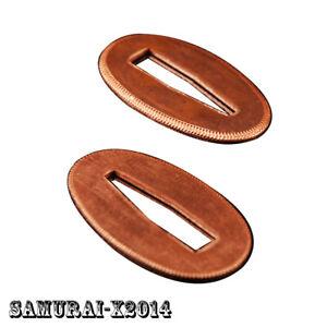 2 pieces Red Copper Seppa for all Japanese Samurai Sword Katana Wakizashi Tanto