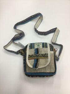 New Unisex/Ladies/Men's Hippie festival Hemp Passport Shoulder Bag Made In Nepal