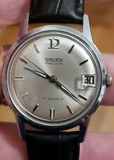 Beautiful Gruen Precisio Vintage wind up Watch with Date 34mm