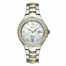 Seiko Coutura White Mother of Pearl Women's Watch - SUT240