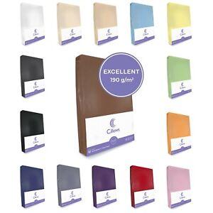 Cillows Jersey Spannbettlaken - 190 g/m2 - 100% Baumwolle Spannbetttuch
