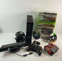 Microsoft Xbox 360 Slim 4GB Console Bundle, w/ Kinect 2 Controllers 24 Games
