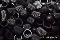100 x Black Plastic Car Dust Caps/Valves/Stems for Bikes,Cars,Tractor,ATV