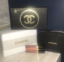 CHANEL Sheer Sensation Lip Gloss Trio Holiday 2020 Beauty Set Gift Wrapped