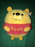 "TY Disney Winnie The Pooh Beanie Ballz 10"" Plush Yellow Stuffed Animal Toy"
