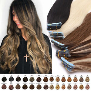 Seamless Skin Weft Tape In Human Hair Extensions Remy Skin Weft THICK 150G Ombre
