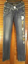 MISS SIXTY Embroidered & Sequence Jeans RARE! Size 27 Medium Wash
