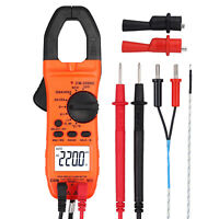 Digital Clamp Meter Set Multimeter Auto Ranging Voltage Tester with Test Leads