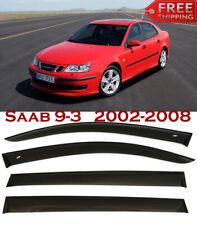 Window Smoke Visor Rain Sun Guard Deflectors For Saab 9-3 2002-2008