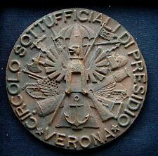 Medaglia militare in bronzo CIRCOLO SOTTUFFICIALI DI PRESIDIO Verona