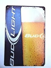 BUD LIGHT METAL TIN SIGNS pub bar garage retro kitchen