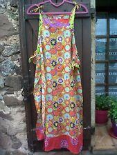 Sur robe/tablier fleuri superpo*Rhum Raisin*