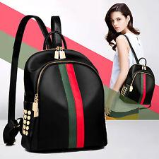 Womens Girls PU Leather Backpack Trendy Pattern Travel Shoulder Bag Rucksack Bag