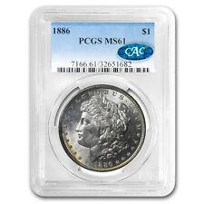 1886 Morgan Dollar MS-61 PCGS CAC (Beautiful Reverse Toning)