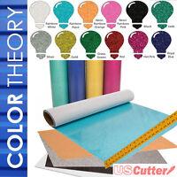 "Color Theory GLITTER Heat Transfer Vinyl 20"" x 12"" - 6,10,12-Color BUNDLES, HTV"