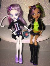"Monster High ""Scaremester"" Girl Doll LOT---Catrine De Mew Cat & Clawdeen Wolf"