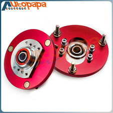 Fits BMW E46 3 Series M3 Front Coilover Camber Plate Top Upper Mounts Red Pair
