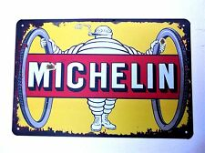 MICHELIN DESIGN 4  METAL TIN SIGNS vintage cafe pub bar garage decor shabby chic