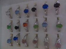 Multicolor Opal Silver Plated Alloy Rings