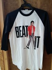 New listing vintage 80s Michael Jackson beat it baseball shirt Ds new w out tags sz L