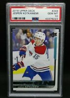 2018-19 Upper Deck Jesperi Kotkaniemi YoungGuns Rookie #249 PSA GEM-MT 10