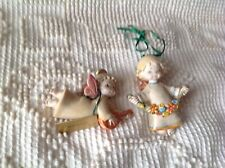 Lot of 2: Depose Italy Christmas Angel Ornament