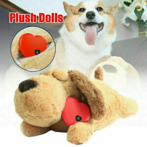 Plush Heartbeat Puppy Behavioral Training Toy Plush Pets Snuggle Chew Toy