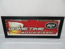 "2 Budweiser NFL New York Jets Mirror Bar Signs 2003 Sealed 39"" X15 1/2"" LOT"