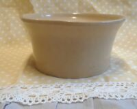 Roseville Vintage Tan Stoneware Bowl R R P Co Roseville, O USA #251 6